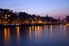 Evening in Amsterdam Royalty Free Stock Images