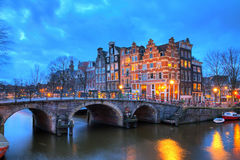Evening Amsterdam royalty free stock images