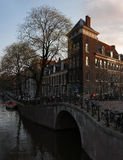 Evening Amsterdam Royalty Free Stock Photography