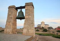 Evening the ancient bell of Chersonesos Royalty Free Stock Photos