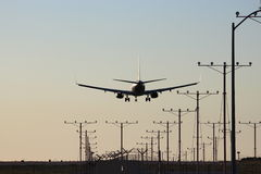 Evening Approach in to LAX Royalty Free Stock Photography