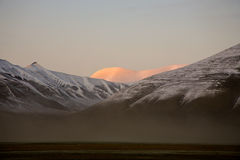 Evening in arctic landscape royalty free stock images