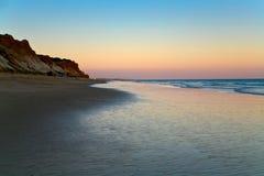Evening on Atlantic ocean coast Royalty Free Stock Image