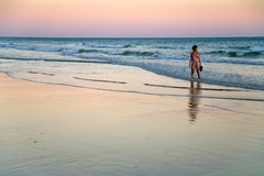 Evening on Atlantic ocean coast Royalty Free Stock Photos