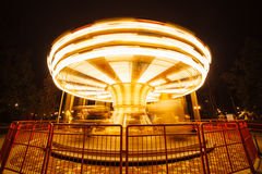 Evening attraction carousel Royalty Free Stock Images
