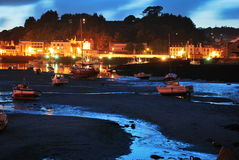 Evening in Audierne. Small port Audierne in Brittany, France Royalty Free Stock Images