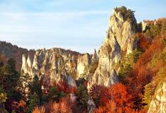 View from Sulov rockies - sulovske skaly - Slovakia royalty free stock photo