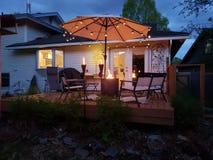 An Evening Backyard Party Awaits stock image