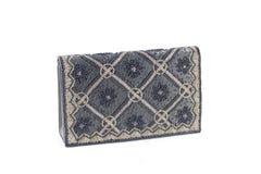 Evening bag alpha. Woman's beaded ornate evening bag stock image