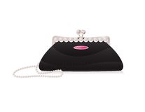 Evening bag with pearl. Vector illustration, EPS 10 Stock Image