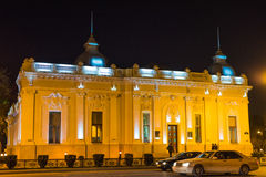 Evening on Baku streets, building of the puppet theater Stock Image