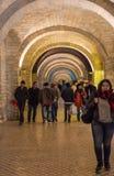 Evening on Baku streets, walking people Stock Image