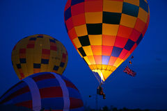 Evening balloon glow Royalty Free Stock Photography
