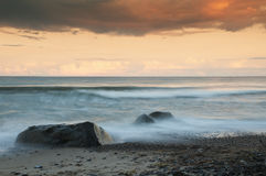 Evening at the Baltic Sea. An evening at the coast of the island Moen in Denmark Royalty Free Stock Photo