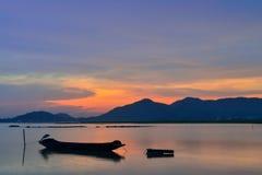 Evening Bang Phra reservoir Royalty Free Stock Photography