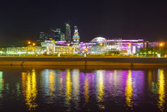 Evening banks of Moskva river Royalty Free Stock Image