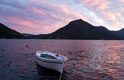 Evening in the Bay of Kotor Royalty Free Stock Photo
