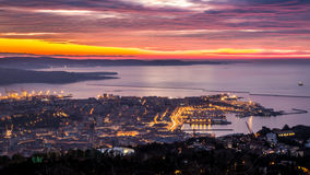 Evening in the bay of Trieste Stock Photo