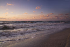 Evening on the beach. Sunset on the Beach at Florida stock photo