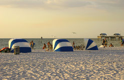 Evening at the beach. An evening at clearwater beach, florida Royalty Free Stock Images