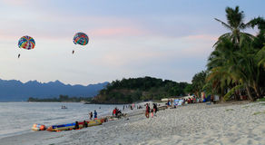 Evening at the beach. Langkawi Malaysia beach Stock Images