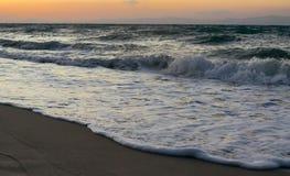 Evening on the beach. And  meerschaum Stock Photos