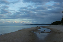 Evening on the beach at Stenshuvud National Park Stock Image