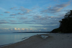 Evening on the beach at Stenshuvud National Park Royalty Free Stock Image