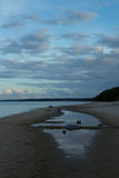 Evening on the beach at Stenshuvud National Park Royalty Free Stock Images