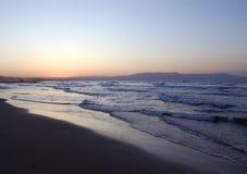Evening beach in Crete Royalty Free Stock Photo