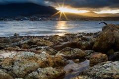 Evening beach Tasmania Stock Photos