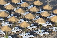 Evening on beach of Mediterranean sea, Fuengirola - Spain Royalty Free Stock Photography