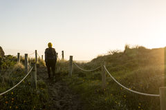 Evening Beach walk Stock Photography