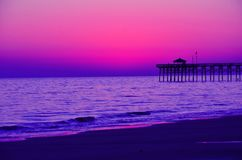 Evening Beachfront View Stock Photography
