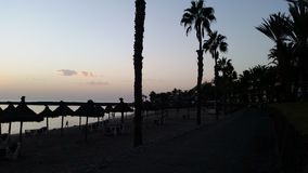 Evening. Beautiful evening at mediterrane beach royalty free stock photography