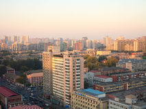 The evening Beijing. Landscape of modern city ,The evening Beijing Royalty Free Stock Photos