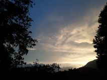 Evening in Belihuloya. Belihuloya in sri lanka.Near Evening sunset on Belihuloya.peacefull location Stock Images