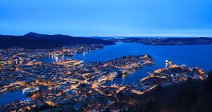 Evening Bergen, Norway Royalty Free Stock Photography