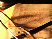 Evening Bible Reading Stock Photography
