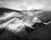 Evening black and white view of Everest Royalty Free Stock Photos