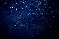 Evening blizzard bokeh #2 Royalty Free Stock Photos