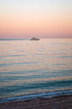Evening boat trip Royalty Free Stock Image