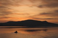 Evening Boating Royalty Free Stock Photos