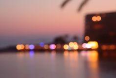 Evening bokeh Majorca Royalty Free Stock Image