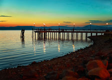 Evening On Bracciano Lake Royalty Free Stock Photos