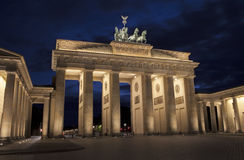 Evening at Brandenburger Tor in Berlin Stock Photos