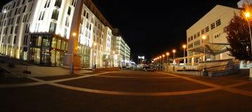 Evening in Bratislava. The new mall in the evening Bratislava -  Slovakia Stock Photography
