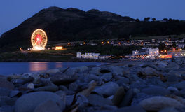 Evening in Bray, Wicklow, Ireland. Twilight in Bary, Wicklow, Ireland royalty free stock image
