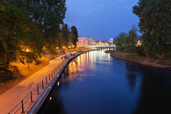 Evening at Brda River in Bydgoszcz Stock Image