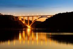 Evening bridge Stock Images